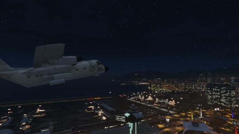 Titan in flight.