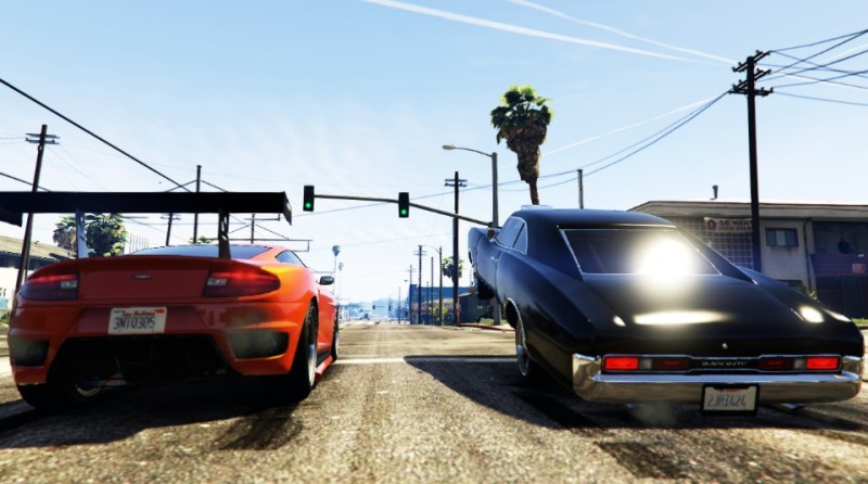 A recreation of the final street race scene from the first Fast and Furious movie. (Credit http://rsg.ms/e5c0f57)